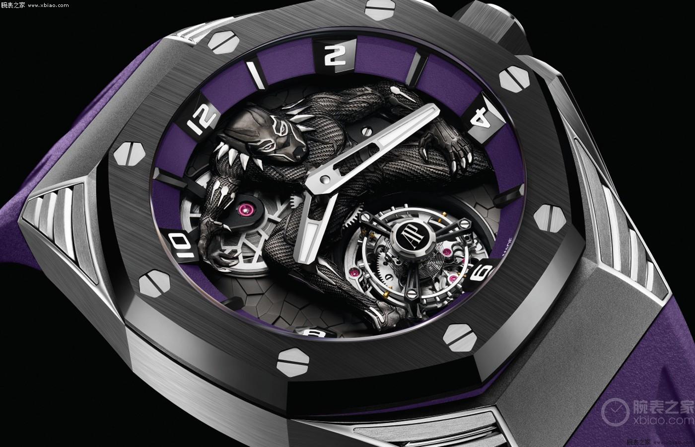 来看看佳士得拍卖500万港元的爱彼皇家橡树概念黑豹飞行陀飞轮腕表
